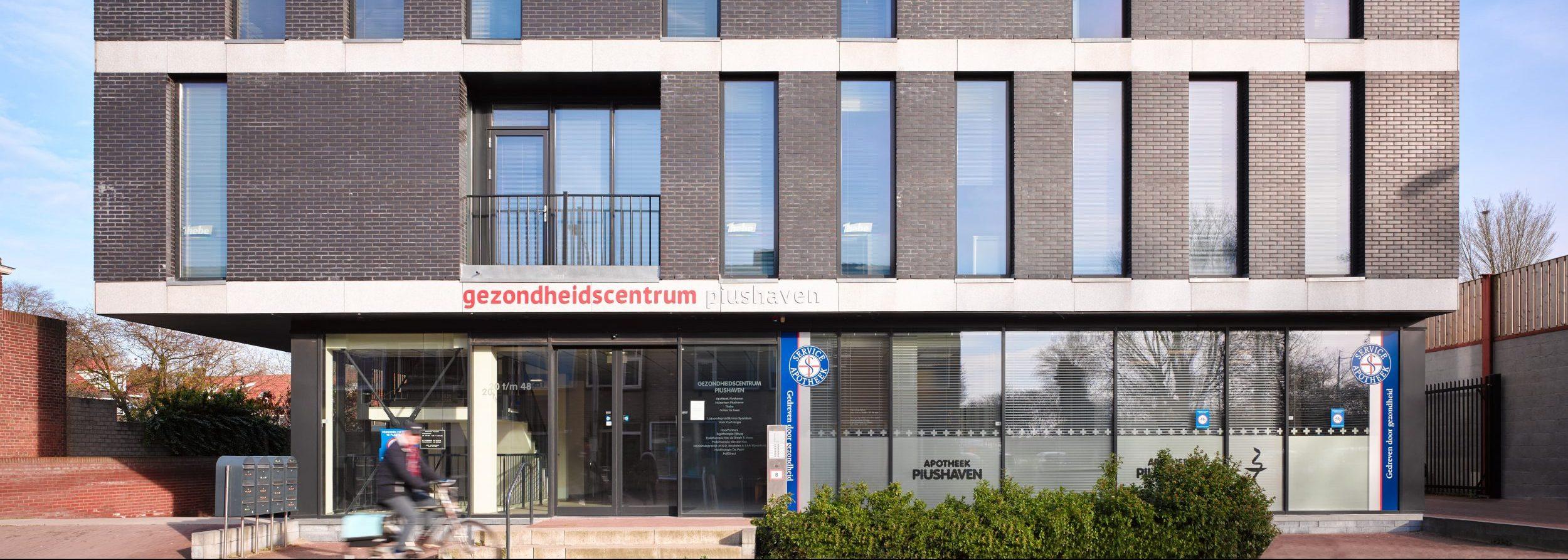 Gebouw gezondheidscentrum Piushaven